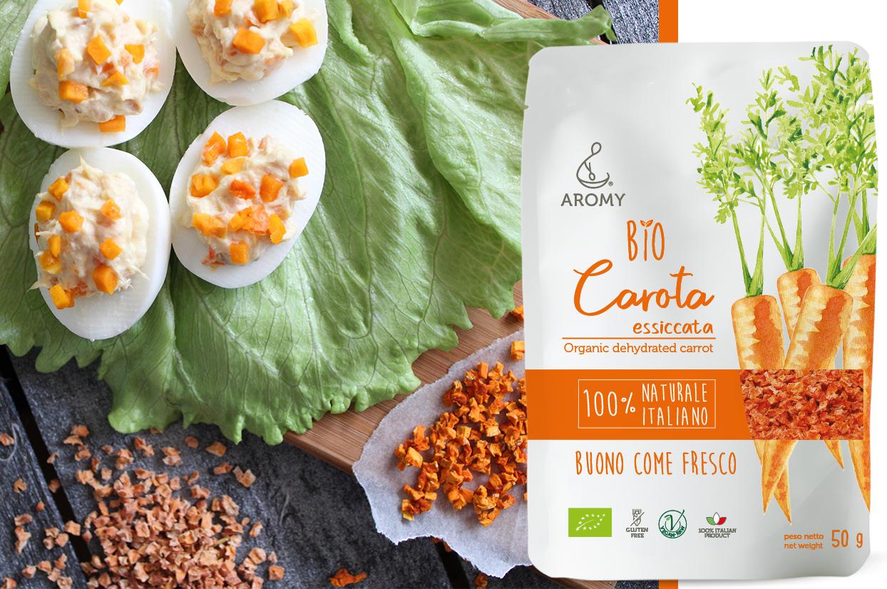 bio carota essiccata aromy