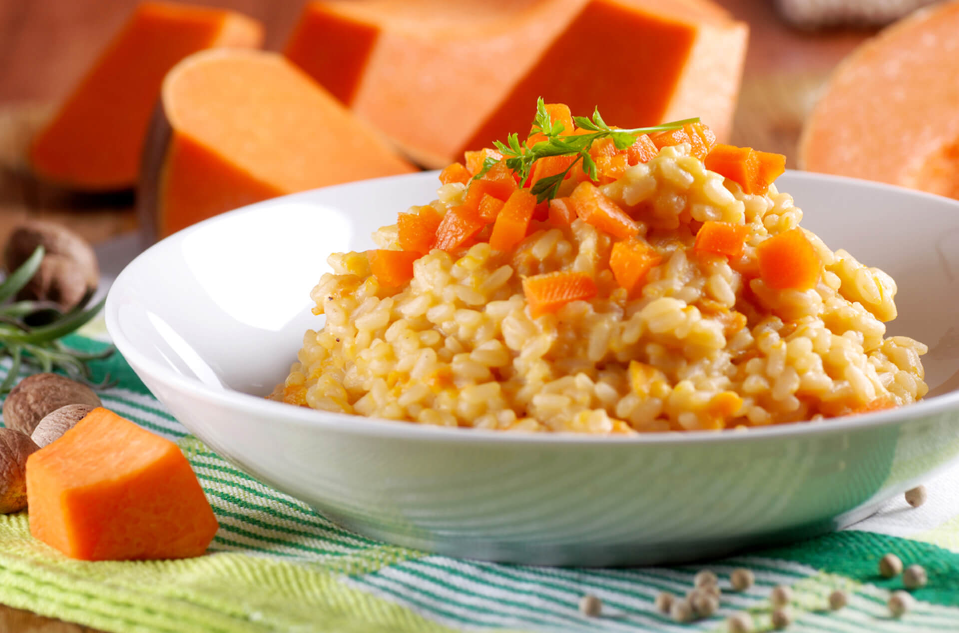 dehydrated pumpkin rice