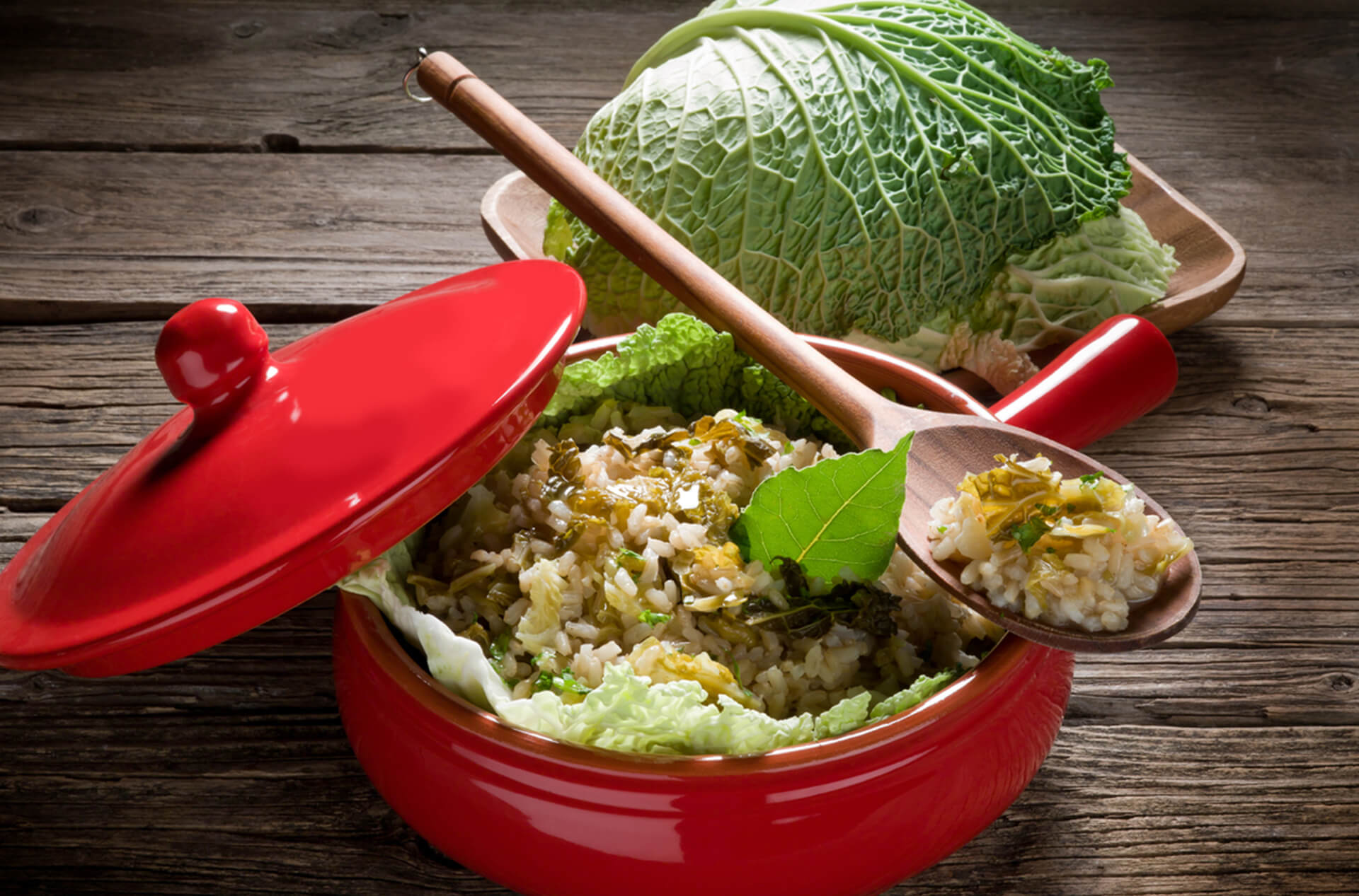 dried cabbage rice