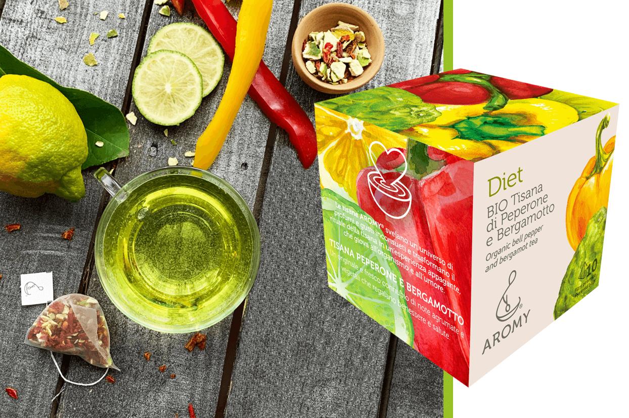 organic bell pepper and bergamot tea
