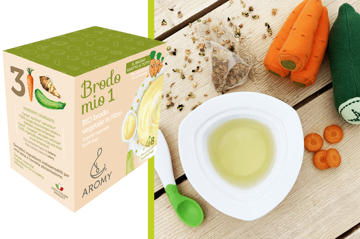 organic vegetable broth in pyramid bags brodo mio 1
