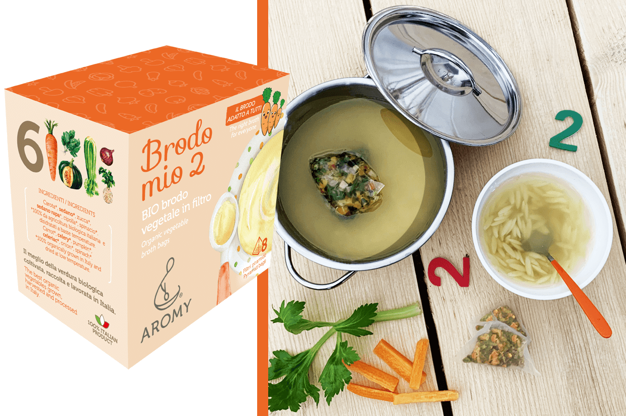 organic vegetable broth in pyramid bags brodo mio 2