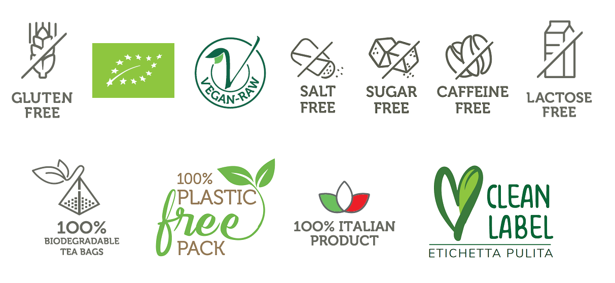 tisane biologiche di verdure bio tisane clean label plastic free 2020
