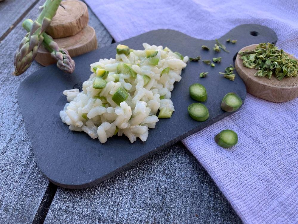 risotto con asparago secco